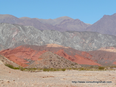 Hills on drive to Cafayate image
