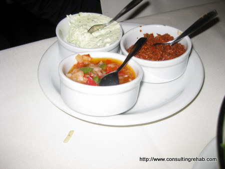 Dinner in Buenos Aires:  Chimichurri, Criolla and white stuff image