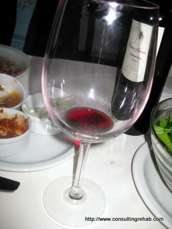 Dinner in Buenos Aires:  Drink your awesome, cheap wine! Image