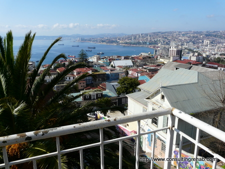 Valparaiso view of the Pacific image