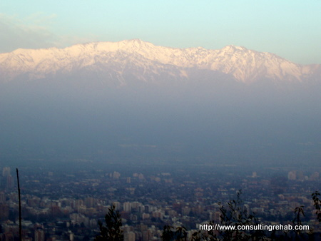 Andes mountains around Santiago, Chile image