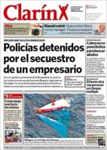 clarin front page image