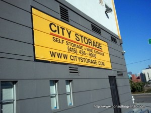 City storage sign image