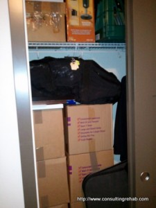 Closet full of boxes image
